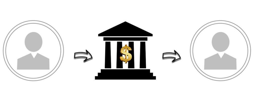 銀行に入出金