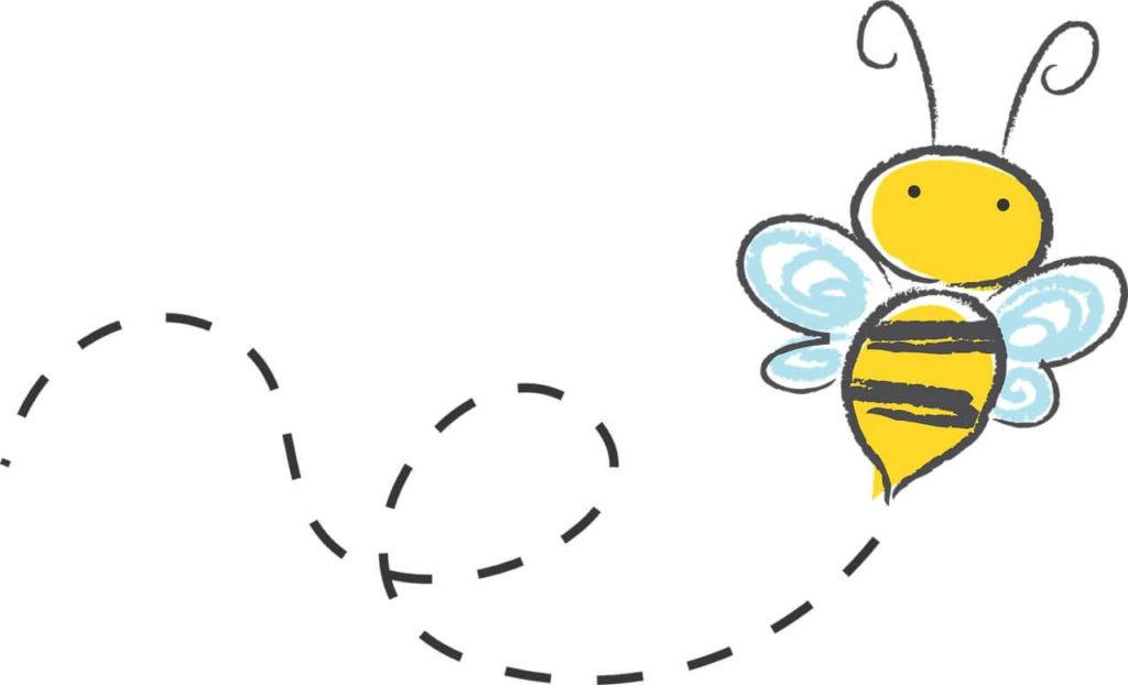 ハチが飛んでる