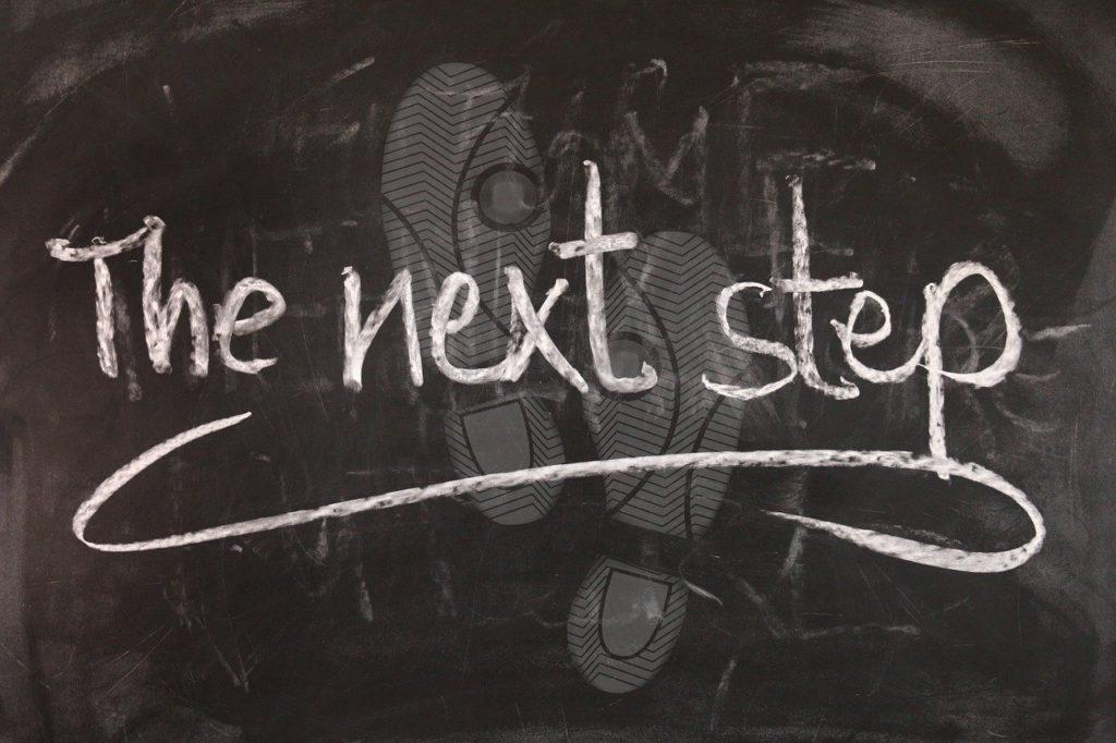 the next stepと足跡