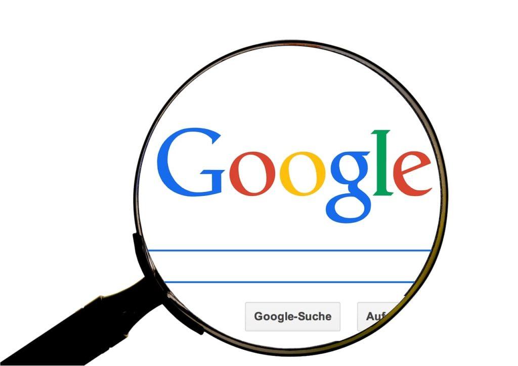 Googleを虫眼鏡で除く
