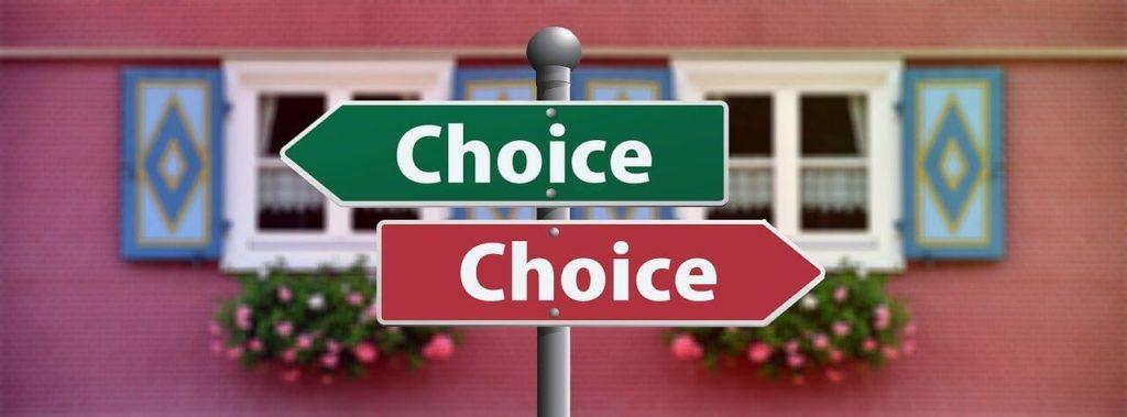 choiceの看板が2つ