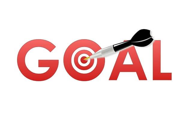 Goalの文字とダーツの矢と的